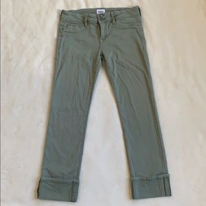 hudson ginny crop straight with cuff green